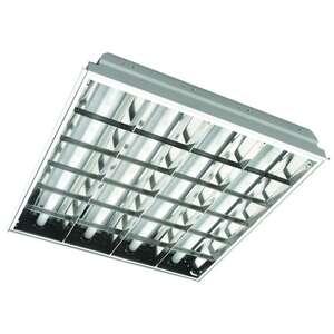 Светильник растровый встраеваемый (4x18W)